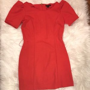 Forever 21 Puff Sleeve Orange Tunic